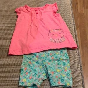 Baby girl owl outfit 3 months